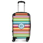 Retro Horizontal Stripes Suitcase (Personalized)