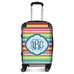 Retro Horizontal Stripes Suitcase (Personalized)