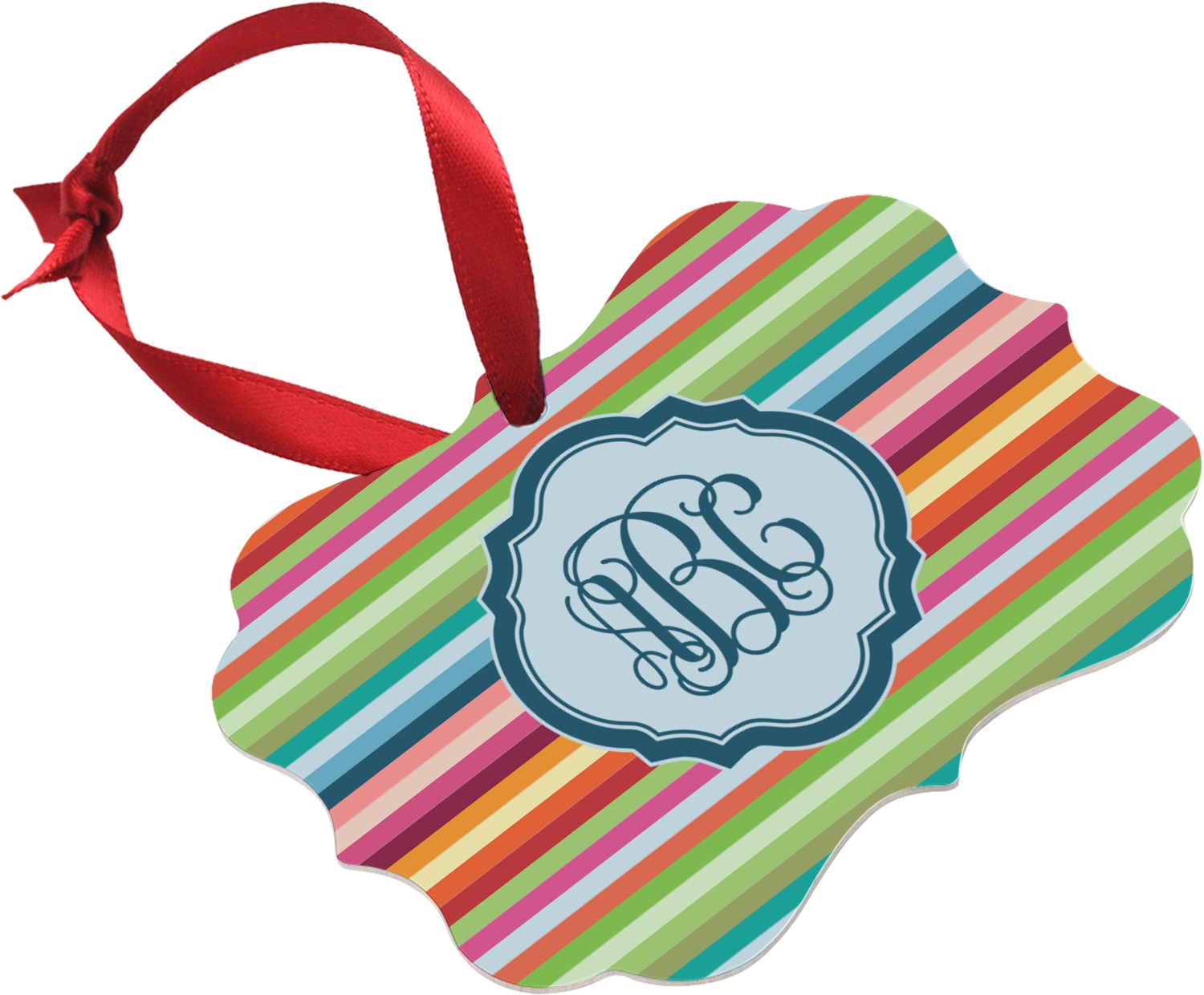 Retro horizontal stripes ornament personalized