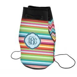 Retro Horizontal Stripes Neoprene Drawstring Backpack (Personalized)