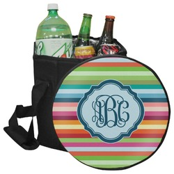 Retro Horizontal Stripes Collapsible Cooler & Seat (Personalized)