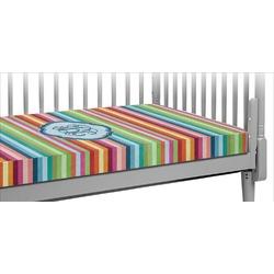Retro Horizontal Stripes Crib Fitted Sheet (Personalized)