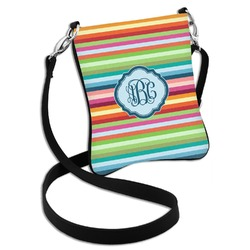 Retro Horizontal Stripes Cross Body Bag - 2 Sizes (Personalized)