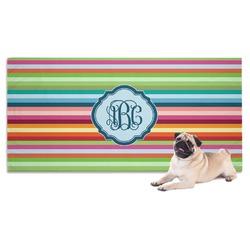 Retro Horizontal Stripes Pet Towel (Personalized)