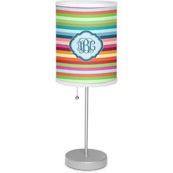 "Retro Horizontal Stripes 7"" Drum Lamp with Shade (Personalized)"