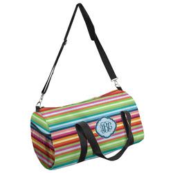 Retro Horizontal Stripes Duffel Bag (Personalized)