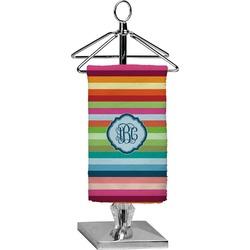 Retro Horizontal Stripes Finger Tip Towel - Full Print (Personalized)