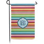 Retro Horizontal Stripes Garden Flag - Single or Double Sided (Personalized)