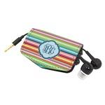 Retro Horizontal Stripes Genuine Leather Cord Wrap (Personalized)