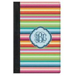 Retro Horizontal Stripes Genuine Leather Passport Cover (Personalized)