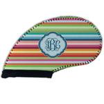 Retro Horizontal Stripes Golf Club Cover (Personalized)