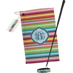 Retro Horizontal Stripes Golf Towel Gift Set (Personalized)