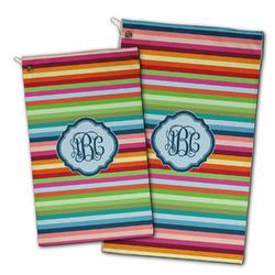 Retro Horizontal Stripes Golf Towel - Full Print w/ Monogram