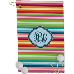 Retro Horizontal Stripes Golf Towel - Full Print (Personalized)