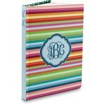 Retro Horizontal Stripes Hardbound Journal (Personalized)