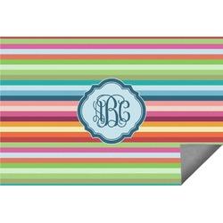 Retro Horizontal Stripes Indoor / Outdoor Rug (Personalized)