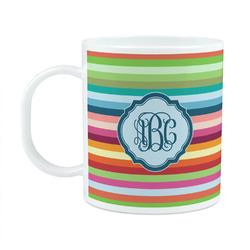 Retro Horizontal Stripes Plastic Kids Mug (Personalized)