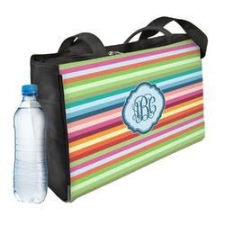 Retro Horizontal Stripes Ladies Workout Bag (Personalized)
