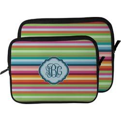 Retro Horizontal Stripes Laptop Sleeve / Case (Personalized)