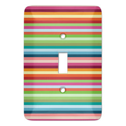 Retro Horizontal Stripes Light Switch Covers (Personalized)
