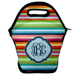Retro Horizontal Stripes Lunch Bag (Personalized)
