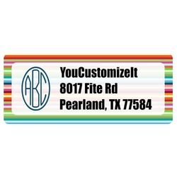 Retro Horizontal Stripes Return Address Label (Personalized)