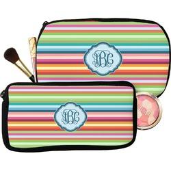 Retro Horizontal Stripes Makeup / Cosmetic Bag (Personalized)