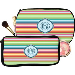 Retro Horizontal Stripes Makeup / Cosmetic Bag (Personalized)
