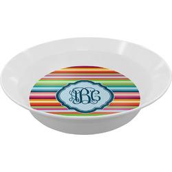 Retro Horizontal Stripes Melamine Bowls (Personalized)