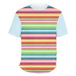 Retro Horizontal Stripes Men's Crew T-Shirt (Personalized)