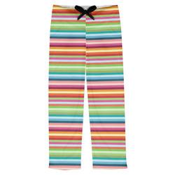 Retro Horizontal Stripes Mens Pajama Pants (Personalized)