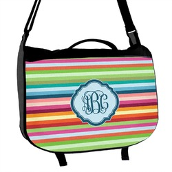 Retro Horizontal Stripes Messenger Bag (Personalized)