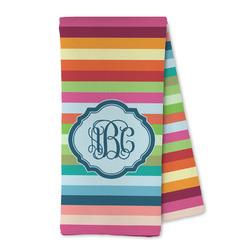 Retro Horizontal Stripes Microfiber Kitchen Towel (Personalized)