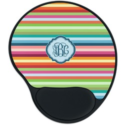 Retro Horizontal Stripes Mouse Pad with Wrist Support