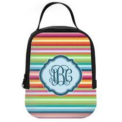 Retro Horizontal Stripes Neoprene Lunch Tote (Personalized)