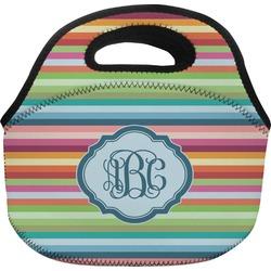 Retro Horizontal Stripes Lunch Bag (Personalized)