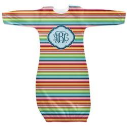 Retro Horizontal Stripes Newborn Gown (Personalized)
