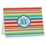 Retro Horizontal Stripes Notecards (Personalized)