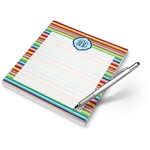 Retro Horizontal Stripes Notepad (Personalized)