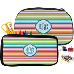 Retro Horizontal Stripes Pencil / School Supplies Bag (Personalized)
