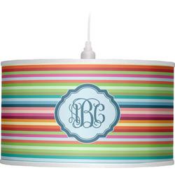 Retro Horizontal Stripes Drum Pendant Lamp (Personalized)