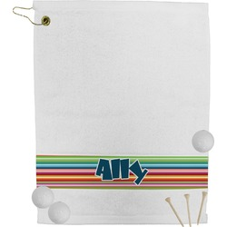 Retro Horizontal Stripes Golf Towel (Personalized)