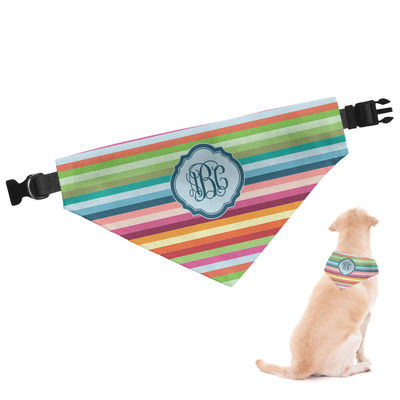 Retro Horizontal Stripes Dog Bandana (Personalized)