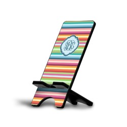 Retro Horizontal Stripes Phone Stand (Personalized)