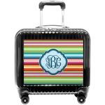 Retro Horizontal Stripes Pilot / Flight Suitcase (Personalized)