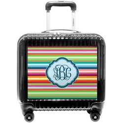Retro Horizontal Stripes Pilot / Flight Suitcase (Personalized)