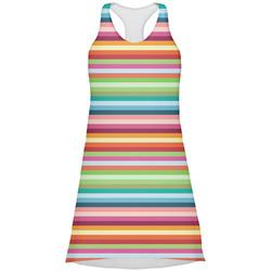 Retro Horizontal Stripes Racerback Dress (Personalized)