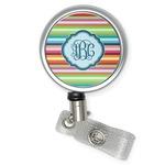 Retro Horizontal Stripes Retractable Badge Reel (Personalized)