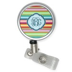 Retro Horizontal Stripes Retractable Badge Reel (Personalized)