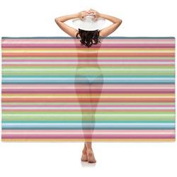 Retro Horizontal Stripes Sheer Sarong (Personalized)